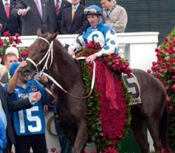 Kentucky Derby Winner With Rose Blanket